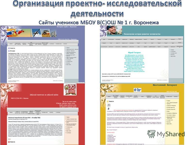 Сайты учеников МБОУ В(С)ОШ 1 г. Воронежа