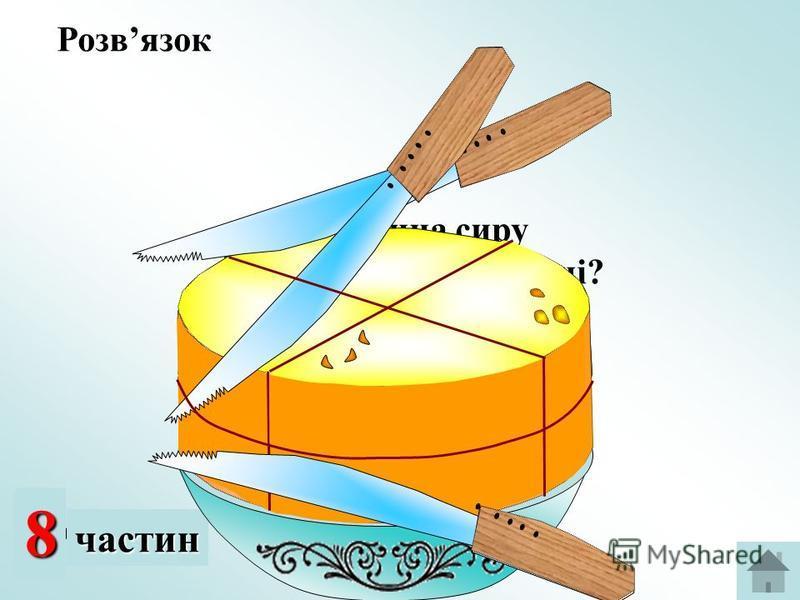 2 частини 48частин Яка частина сиру залишилась на мисці? Розвязок