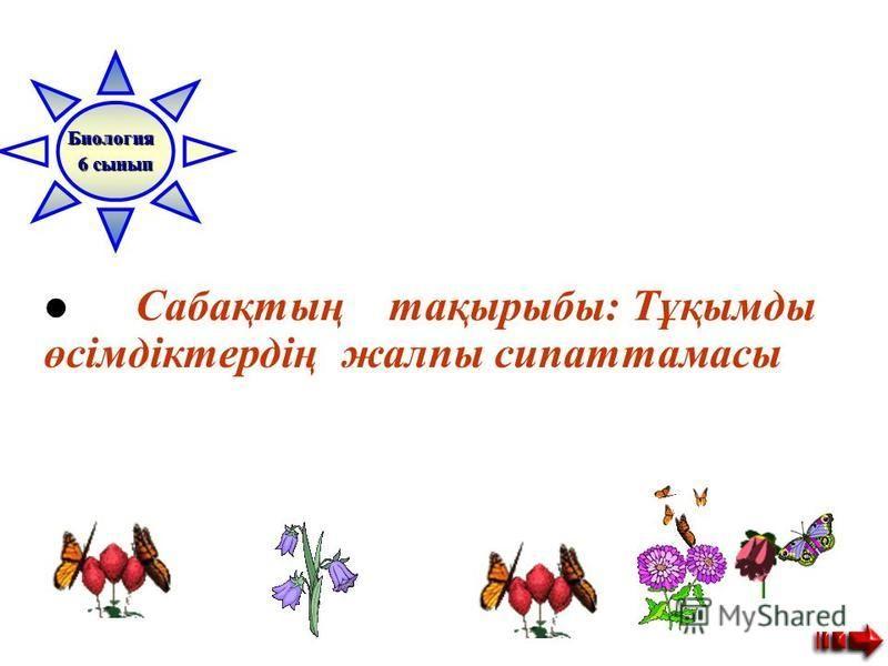 Сабақтың тақырыбы: Тұқымды өсімдіктердің жалпы сипаттамасы Биология 6 сынып