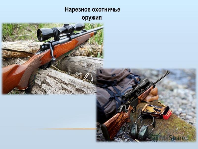 Нарезное охотничье оружия