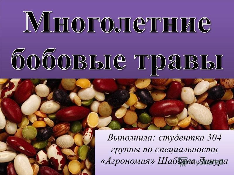 Выполнила: студентка 304 группы по специальности «Агрономия» Шабаева Линура
