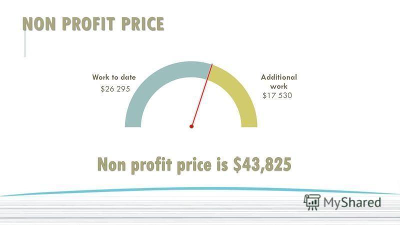 NON PROFIT PRICE