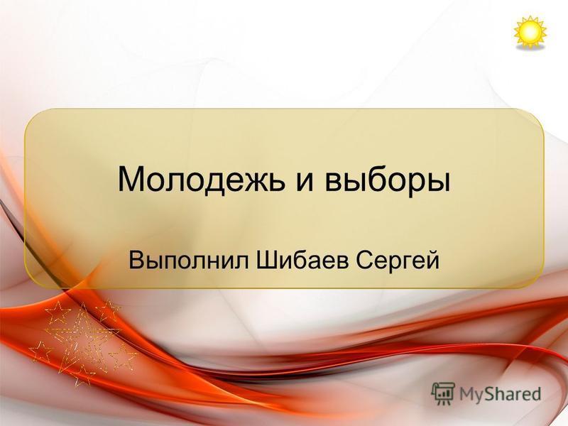 Молодежь и выборы Выполнил Шибаев Сергей