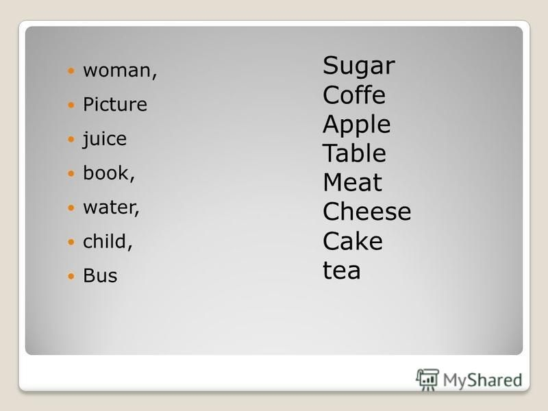 woman, Picture juice book, water, child, Bus Sugar Coffe Apple Table Meat Cheese Cake tea