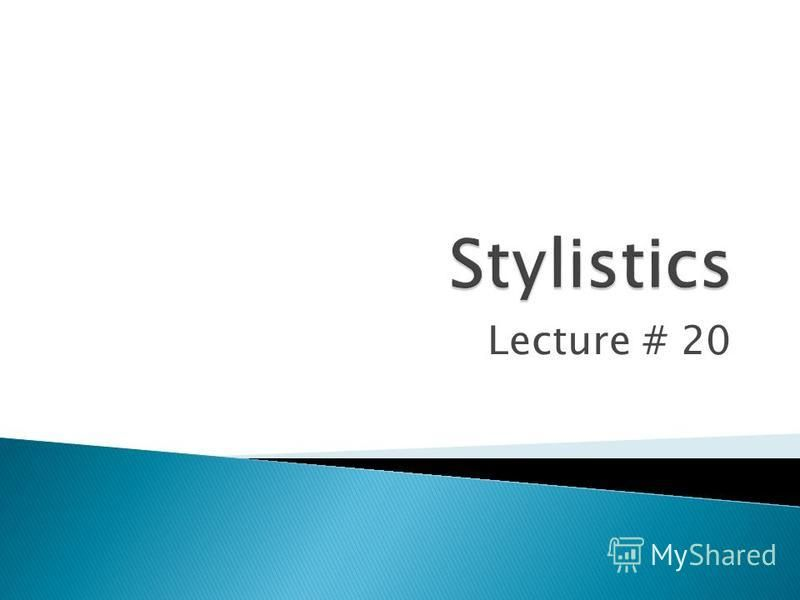 Lecture # 20