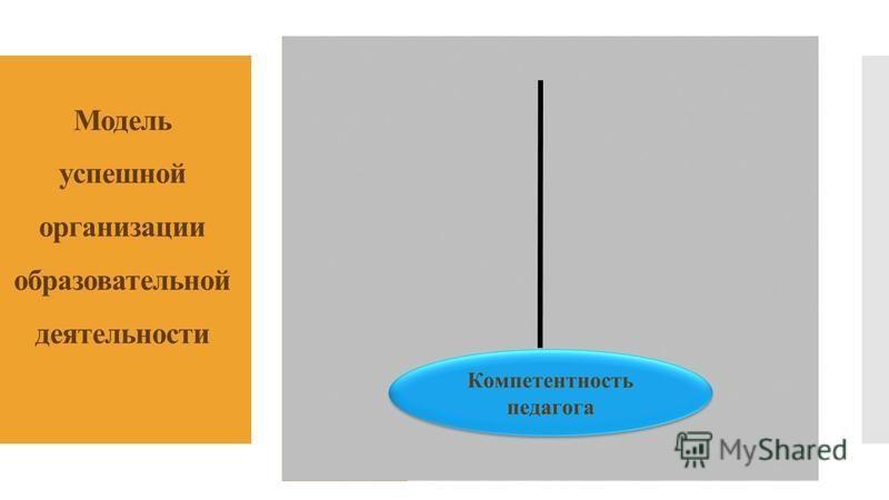Модель успешной организации образовательной деятельности