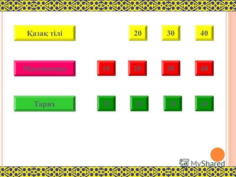 10202030304040 1010202030304040 1010202030304040 Қазақ тілі Тарих Математика
