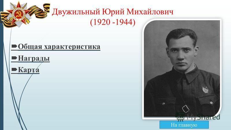 Двужильный Юрий Михайлович (1920 -1944) Общая характеристика Награды Карта
