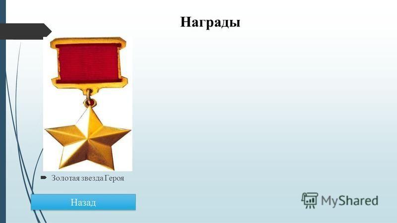 Награды Золотая звезда Героя
