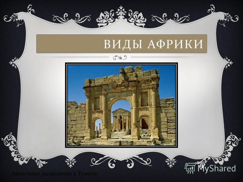 ВИДЫ АФРИКИ Античные развалины в Тунисе