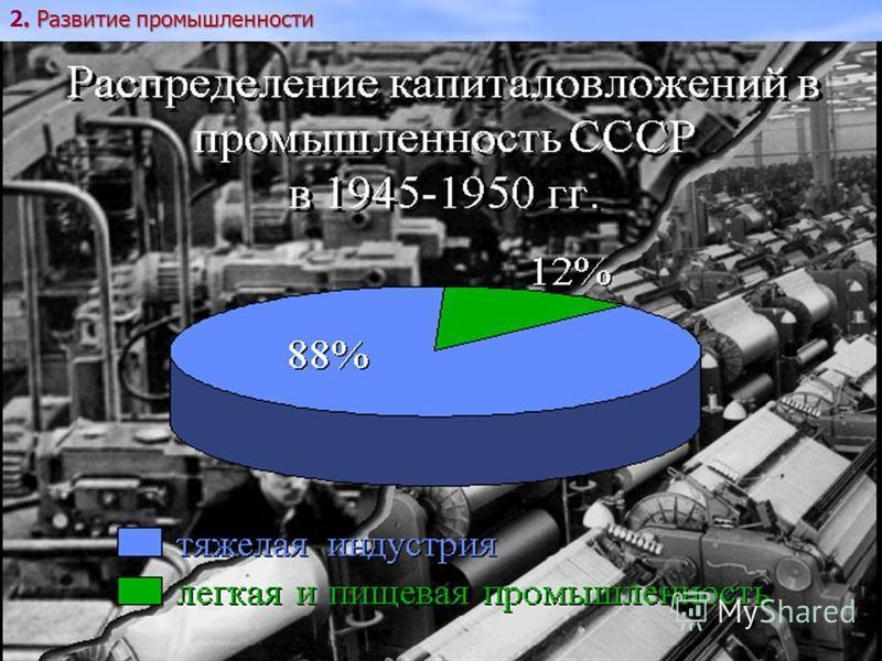 . Развитие промышленности 2. Развитие промышленности