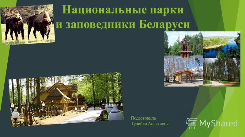 Национальные парки и заповедники Беларуси Подготовила Тулейко Анастасия