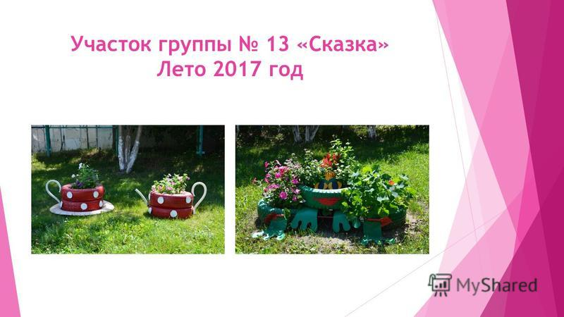 Участок группы 13 «Сказка» Лето 2017 год