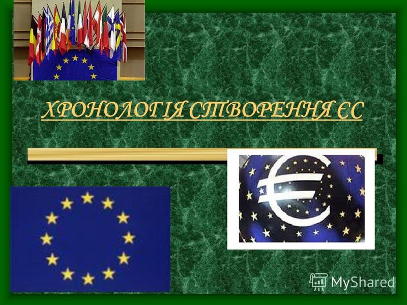 ХРОНОЛОГІЯ СТВОРЕННЯ ЄС