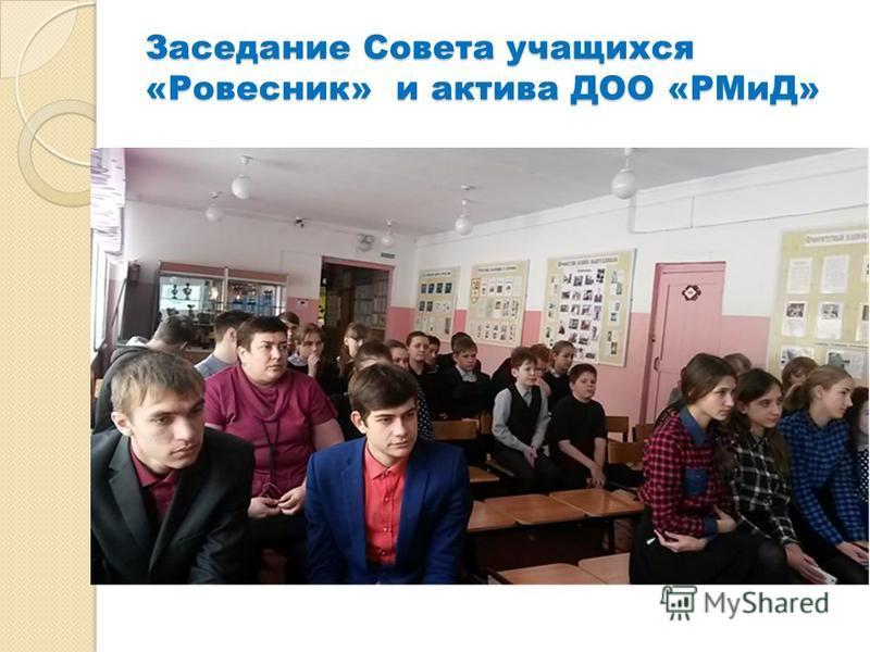 Заседание Совета учащихся «Ровесник» и актива ДОО «РМиД»