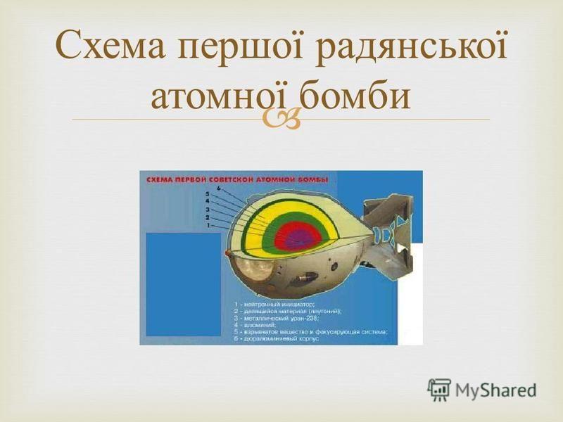Схема першої радянської атомної бомби