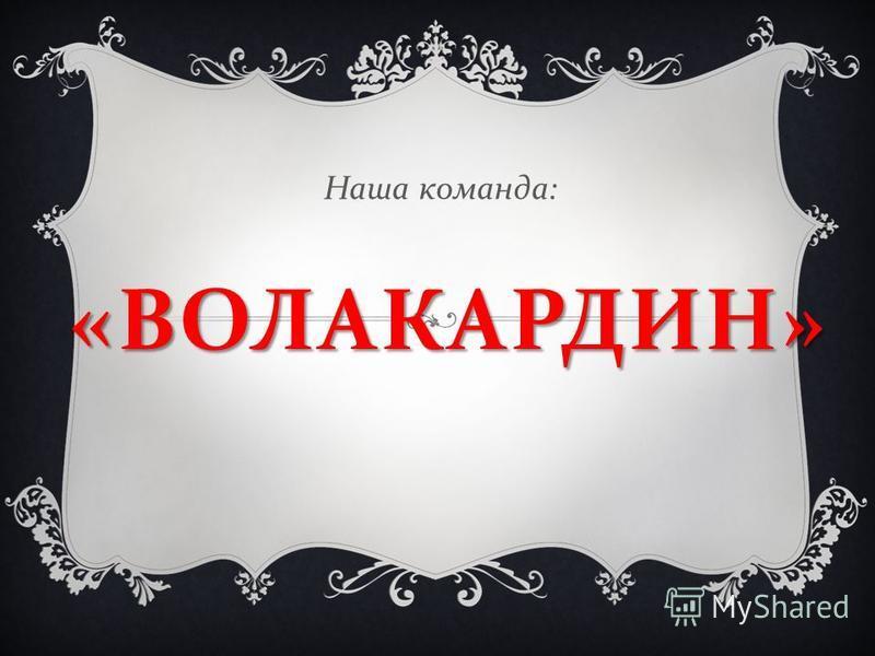 « ВОЛАКАРДИН » Наша команда :