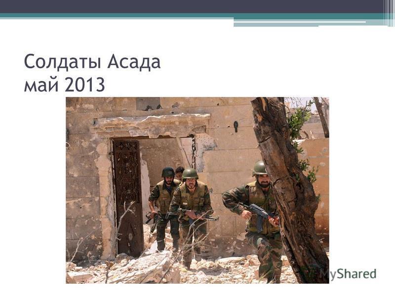 Солдаты Асада май 2013