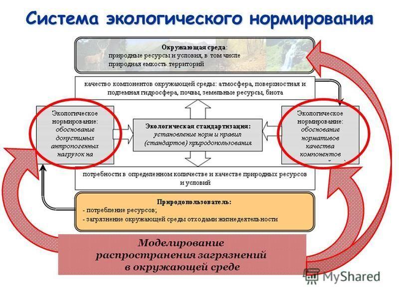 Система экологического нормирования Моделирование распространения загрязнений в окружающей среде