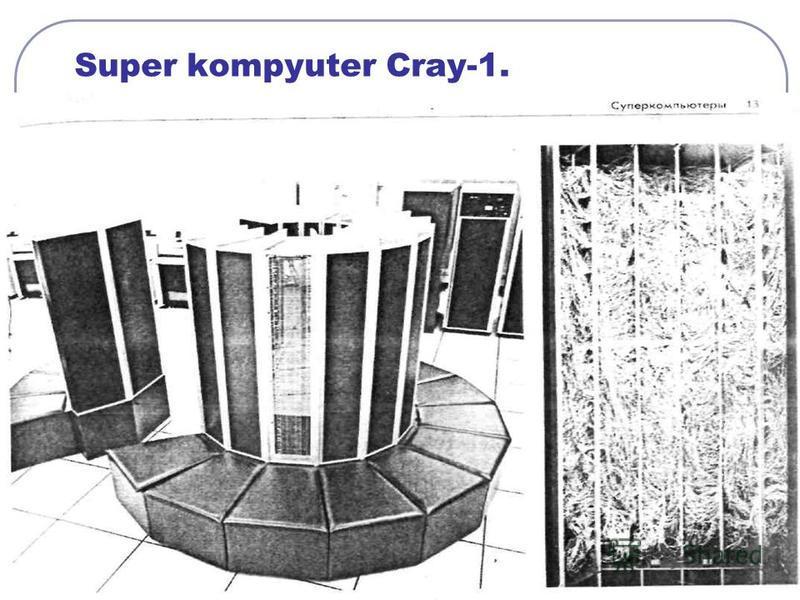 Super kompyuter Cray-1.