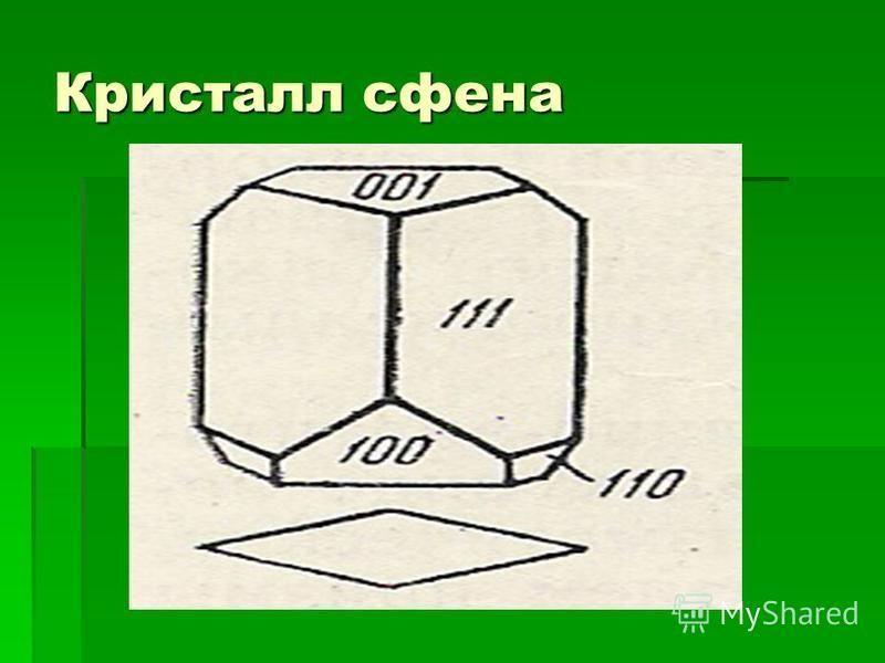 Кристалл сфена