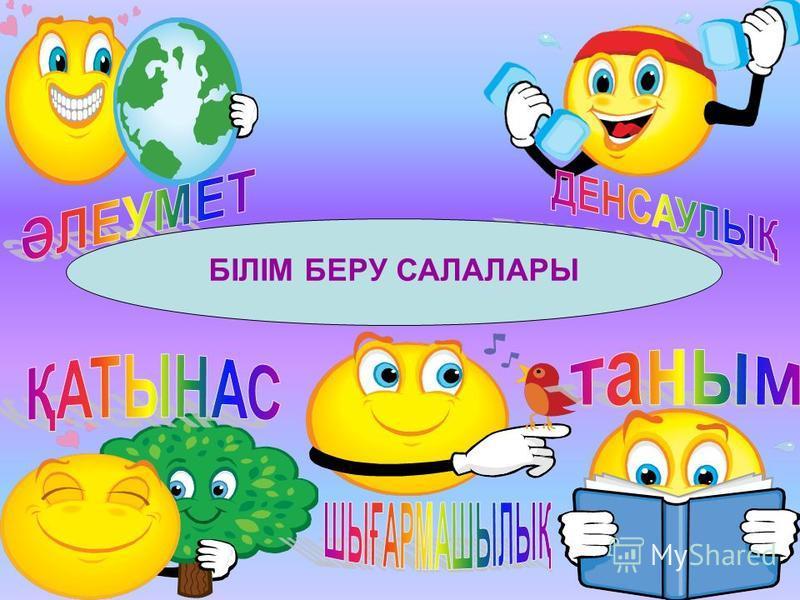 БІЛІМ БЕРУ САЛАЛАРЫ