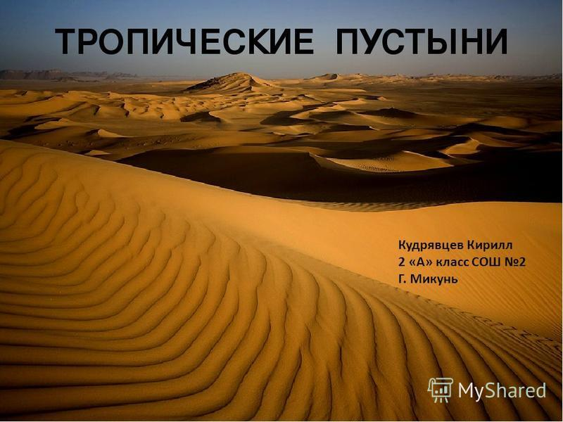 Кудрявцев Кирилл 2 «А» класс СОШ 2 Г. Микунь