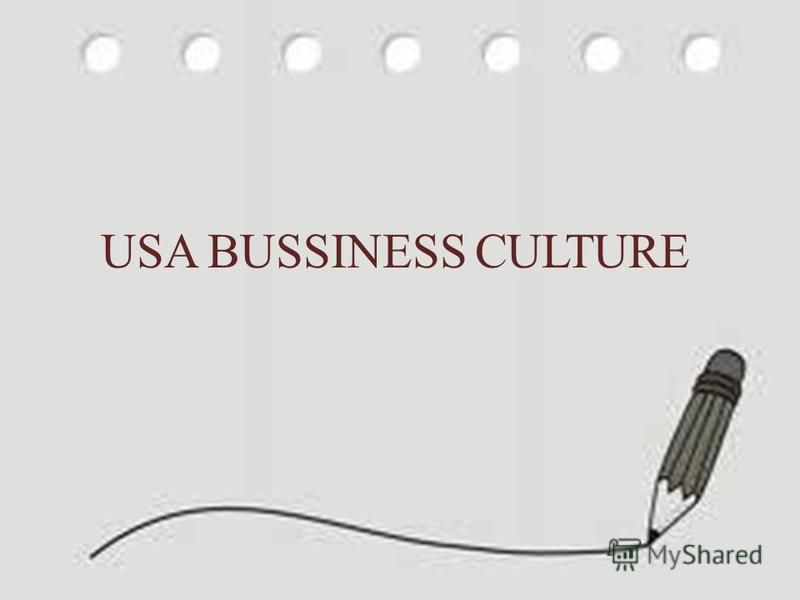 USA BUSSINESS CULTURE