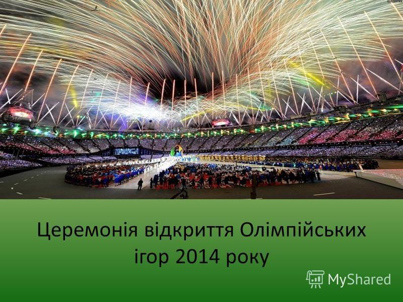 Церемонія відкриття Олімпійських ігор 2014 року