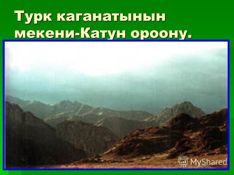 Турк каганатынын микены-Катун району.