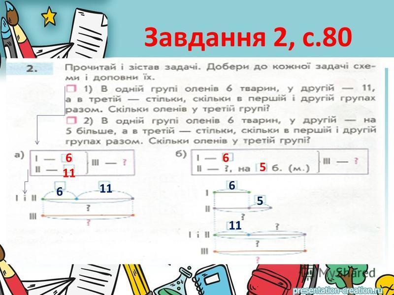 Завдання 2, с.80 6 11 6 6 5 6 5