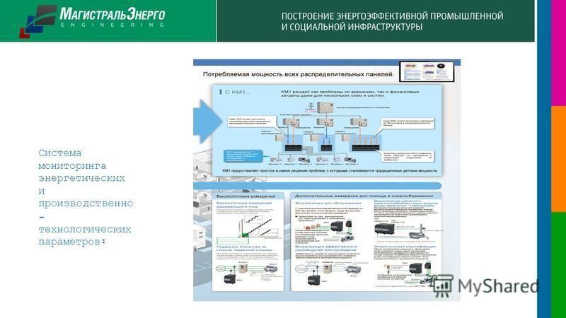 Система мониторинга энергетических и производственно - технологических параметров: