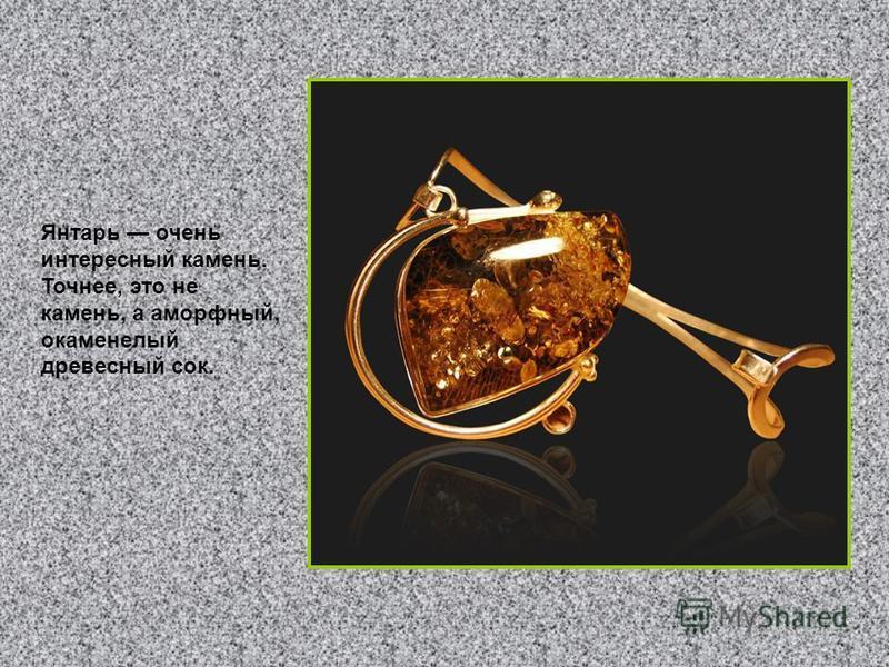 Янтарь очень интересный камень. Точнее, это не камень, а аморфный, окаменелый древесный сок.