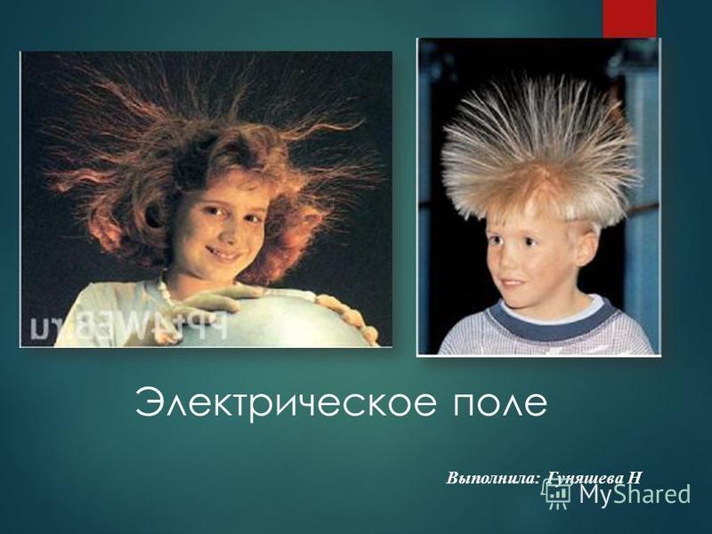 Электрическое поле Выполнила: Гуняшева Н