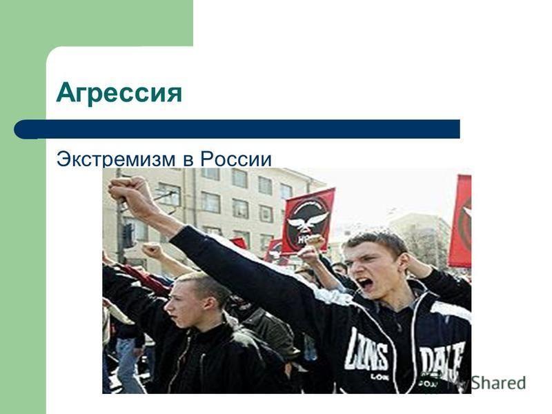 Агрессия Экстремизм в России