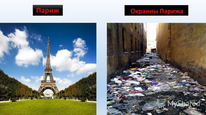 Париж Окраины Парижа