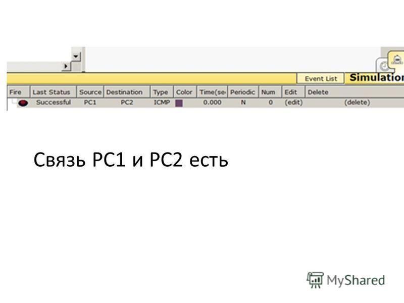 Связь PC1 и PC2 есть