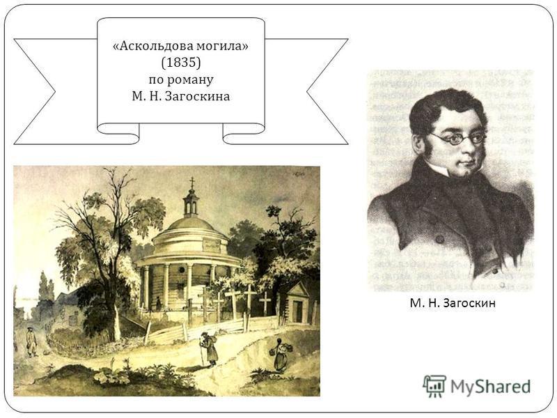 М. Н. Загоскин « Аскольдова могила » (1835) по роману М. Н. Загоскина