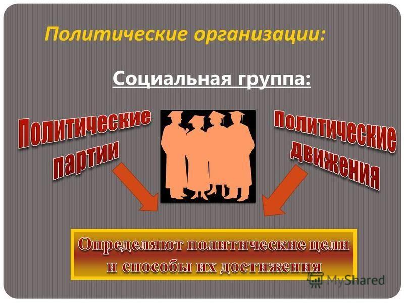 Социальная группа: Политические организации :