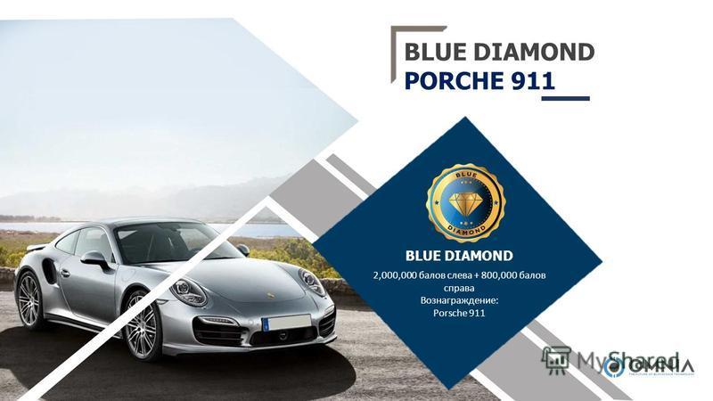 BLUE DIAMOND PORCHE 911 2,000,000 балов слева + 800,000 балов справа Вознаграждение: Porsche 911 BLUE DIAMOND