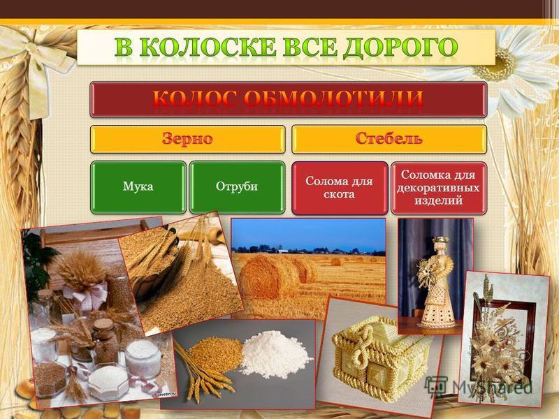 Мука Отруби Солома для скота Соломка для декоративных изделий