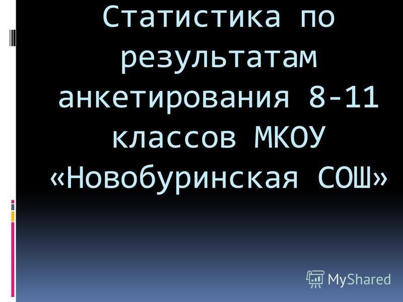 Статистика по результатам анкетирования 8-11 классов МКОУ «Новобуринская СОШ»
