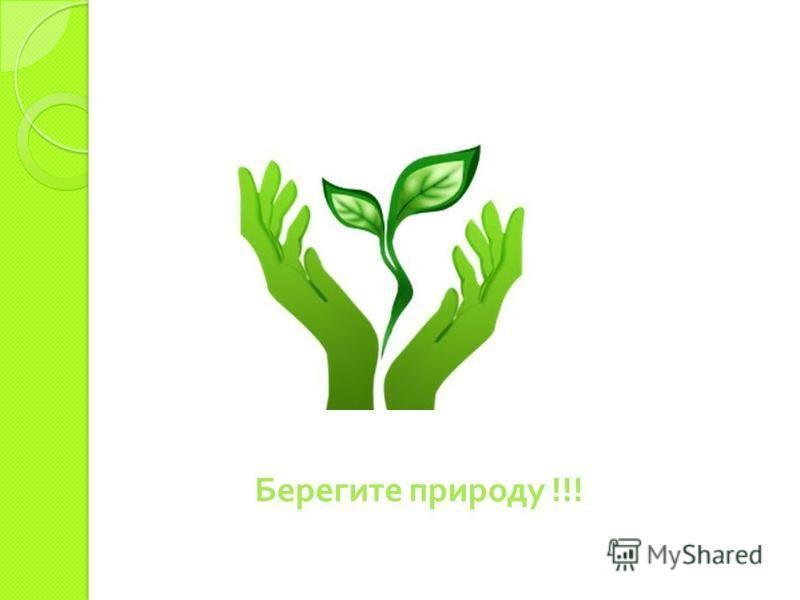 Берегите природу !!!