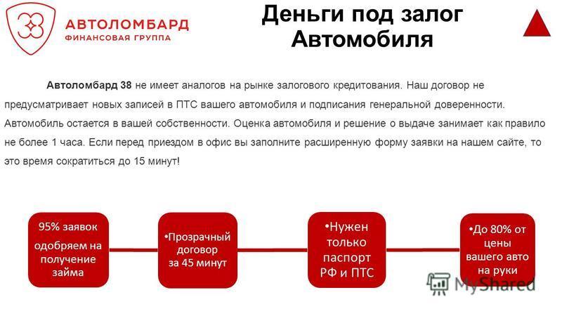 Деньги под залог авто ПТС в Тюмени Тюменская область
