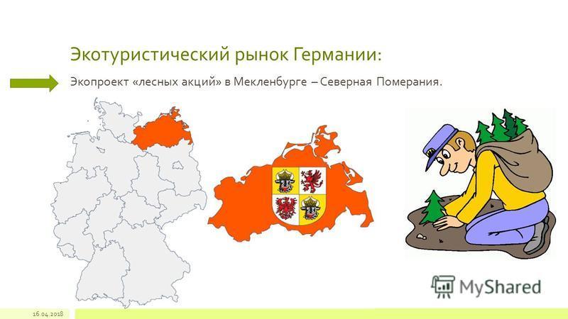 Экотуристический рынок Германии: Экопроект «лесных акций» в Мекленбурге – Северная Померания. 16.04.2018
