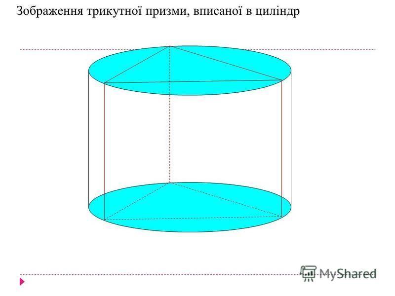 Зображення трикутної призми, вписаної в циліндр