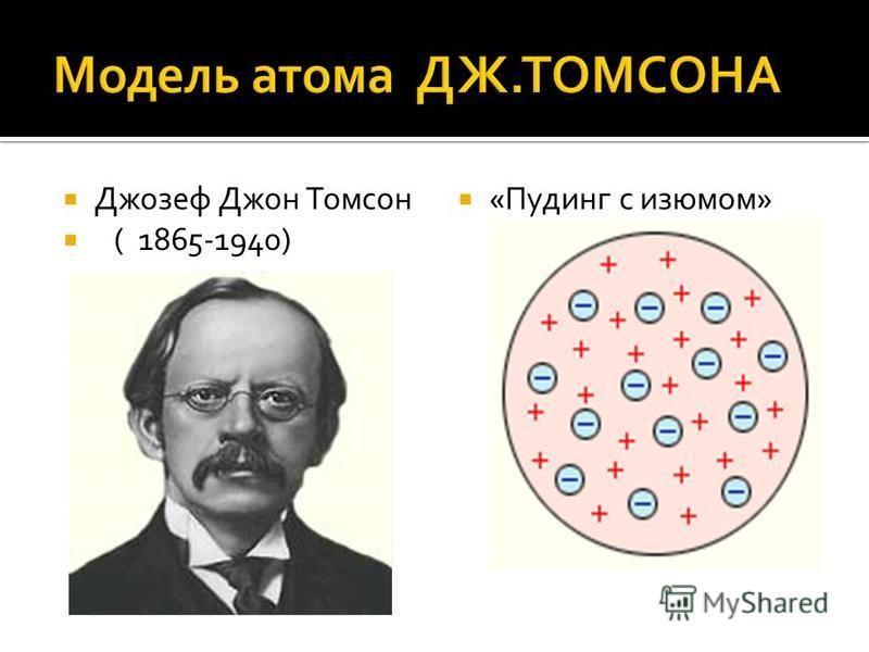 Джозеф Джон Томсон ( 1865-1940) «Пудинг с изюмом»