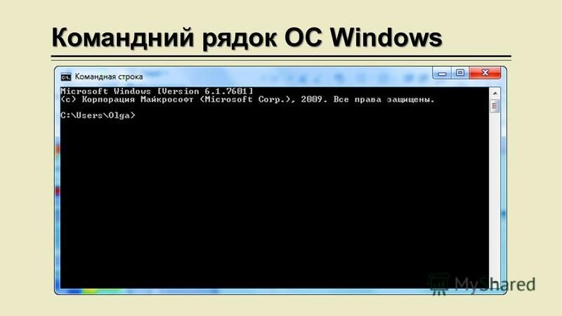 Командний рядок ОС Windows