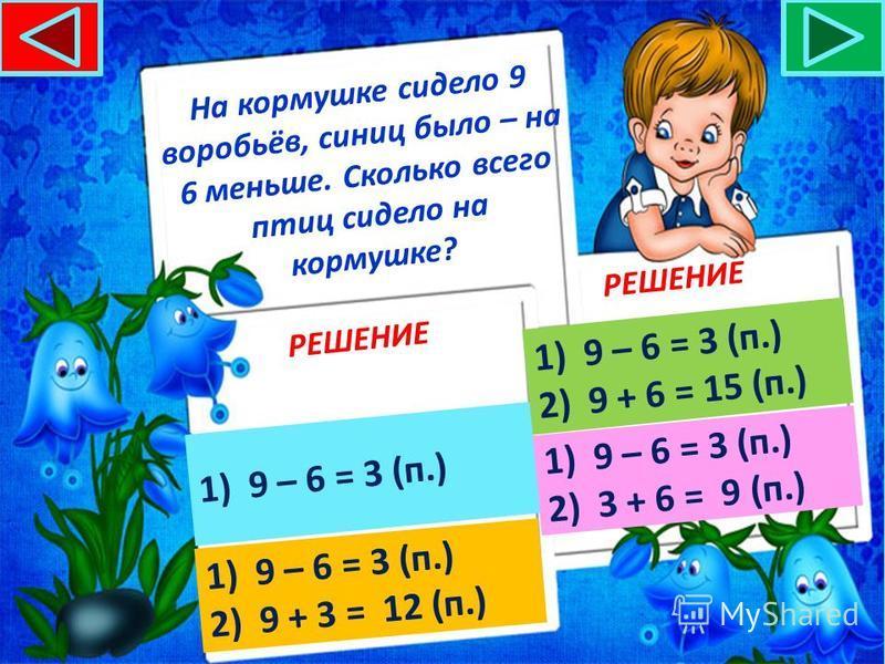 РЕШЕНИЕ 1)10 + 5 = 15 (кг)10 + 5 = 15 (кг) С участка собрали 10 кг моркови, а лука на 5 кг больше. Сколько кг овощей собрали с участка? 1)10 + 5 = 15 (кг)10 + 5 = 15 (кг) 2)10 + 15 = 25 (кг)10 + 15 = 25 (кг) 1)10 + 5 = 15 (кг)10 + 5 = 15 (кг) 2)15 +