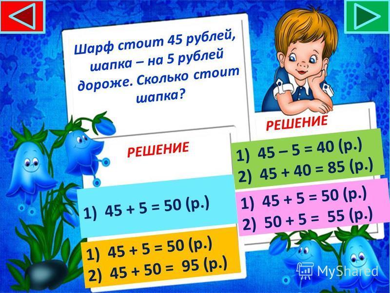 В одной коробке 24 карандаша, в другой – на 4 карандаша меньше. Сколько карандашей во второй коробке? РЕШЕНИЕ 1)24 – 4 = 20 (к.)24 – 4 = 20 (к.) 2)24 + 4 = 28 (к.)24 + 4 = 28 (к.) 1)24 – 4 = 20 (к.)24 – 4 = 20 (к.) 2)24 + 20 = 44 (к.)24 + 20 = 44 (к.